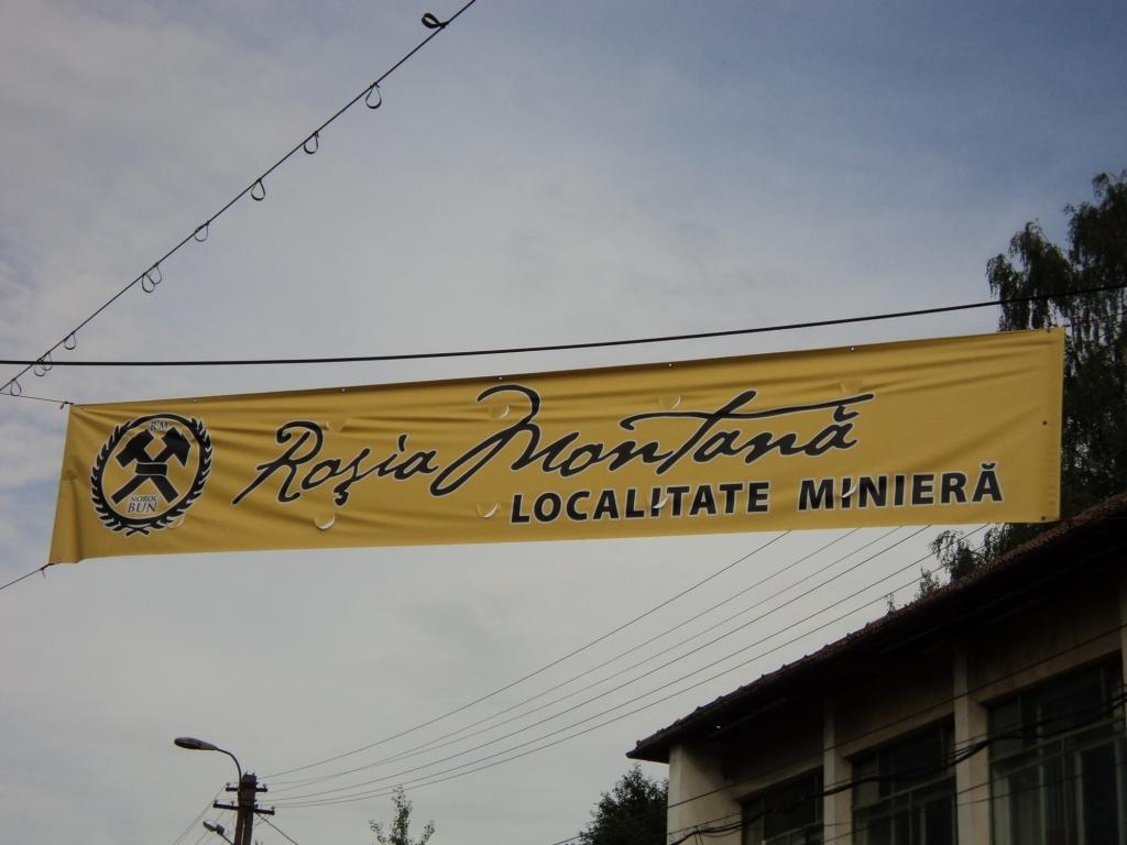 Roșia Montană localitate minieră