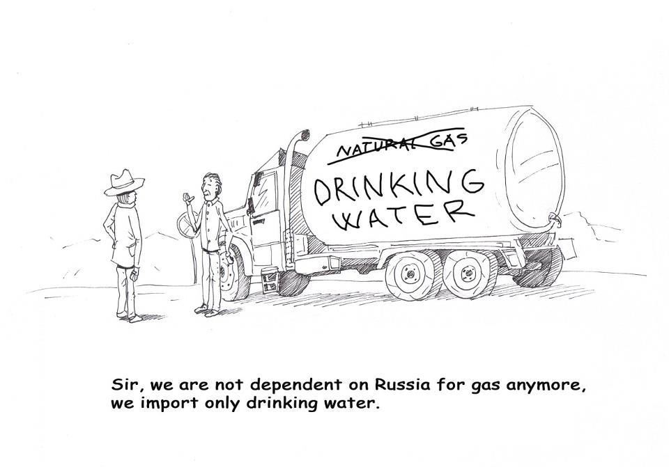 Gas vs. apă
