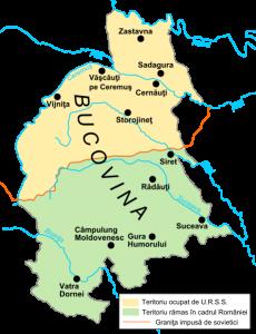 Bucovina divizată de ultimatumul din 1940