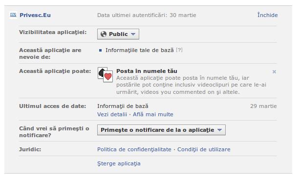 Editează o aplicație pe Facebook
