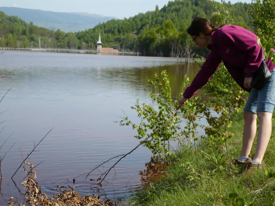 Pescuit în iazul de decantare Geamăna