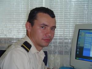 Mihai Papuc, proaspăt sublocotenent, la început de carieră