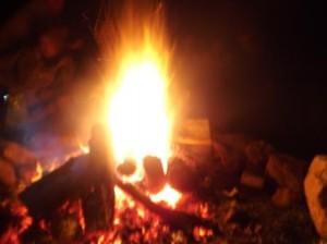 Roșia Montană, foc de tabără la Eugen David